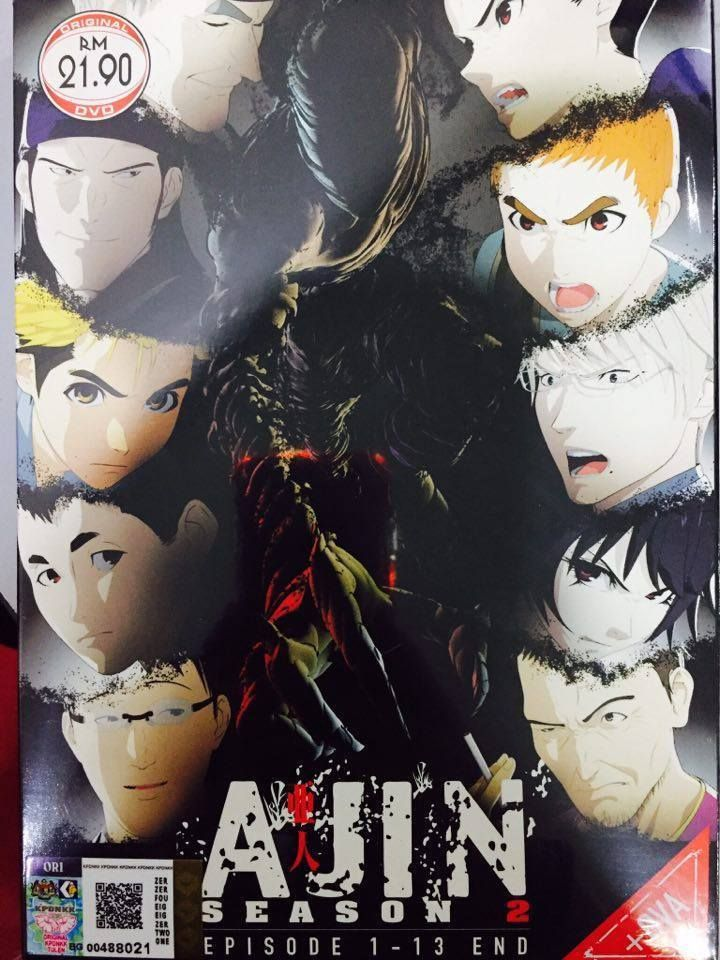 Dvd Anime Ajin Season 2 ( Eps. 113 End + Ova ) English