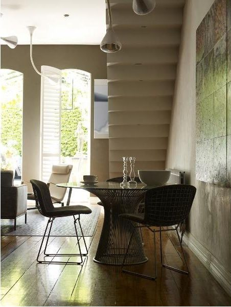 Casual Dining Table Under The Stairs Nice Hardwood Floors Nice