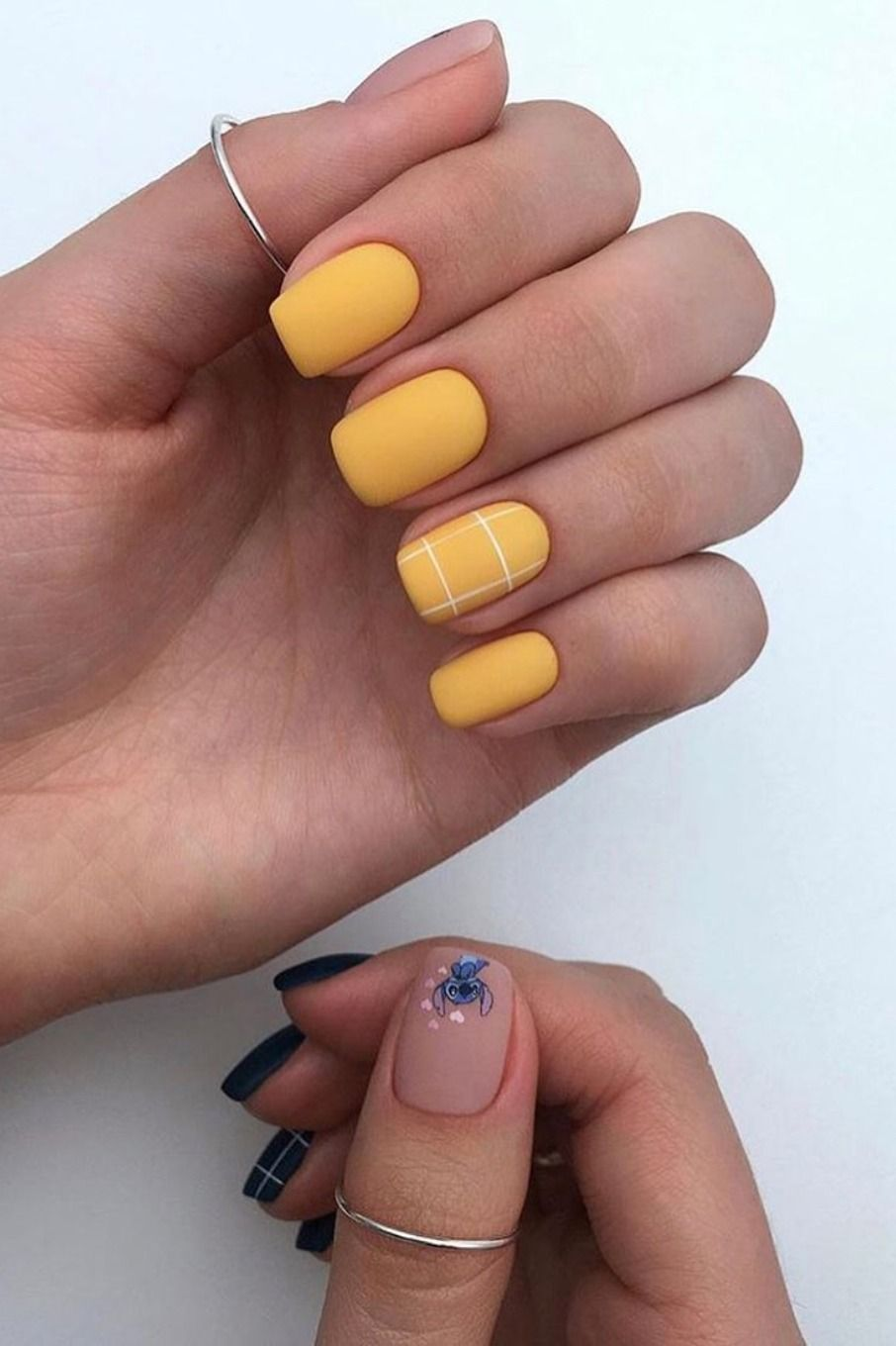 So Cute Short Acrylic Nails Ideas You Will Love Them Cute Simple Nails Olive Nails Yellow Nails Design