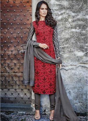447d0d3cbbf37 Dress Materials - Buy Ladies Unstitched Suits Online in India ...