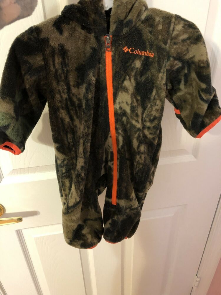 78116c3ee Infant Boys 0-3 Months COLUMBIA 1pc Hooded Snowsuit Hunting Camo ...
