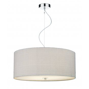 Dar REN1739 Renoir 3 Light Medium Ceiling Pendant Silver Grey