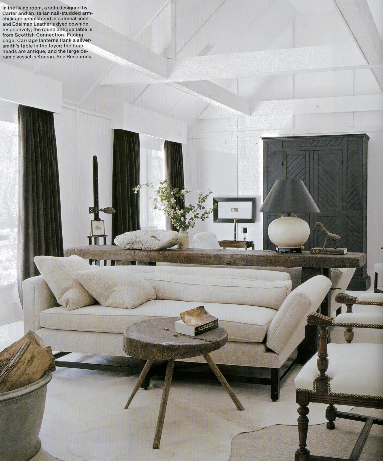 Well-Advised Design from Darryl Carter | Elle decor, Living rooms ...