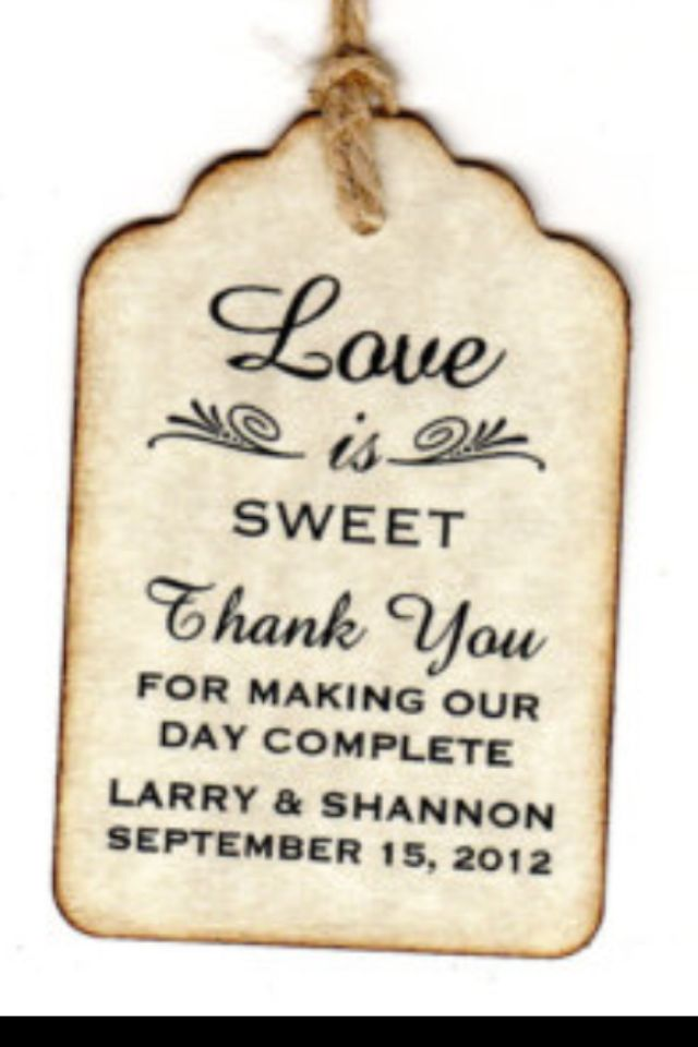 Bonbonniere Thank You Wording Sweet Wedding Favors Wedding Favor Gift Tags Wedding Gift Favors