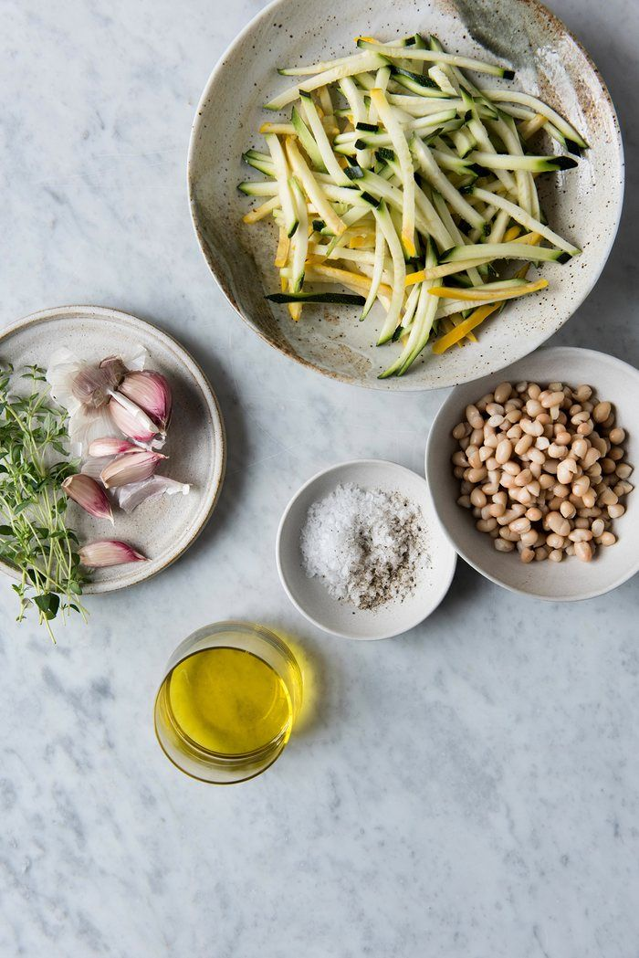Quick courgette ratatouille with crispy haricot beans recipe recipe forumfinder Image collections