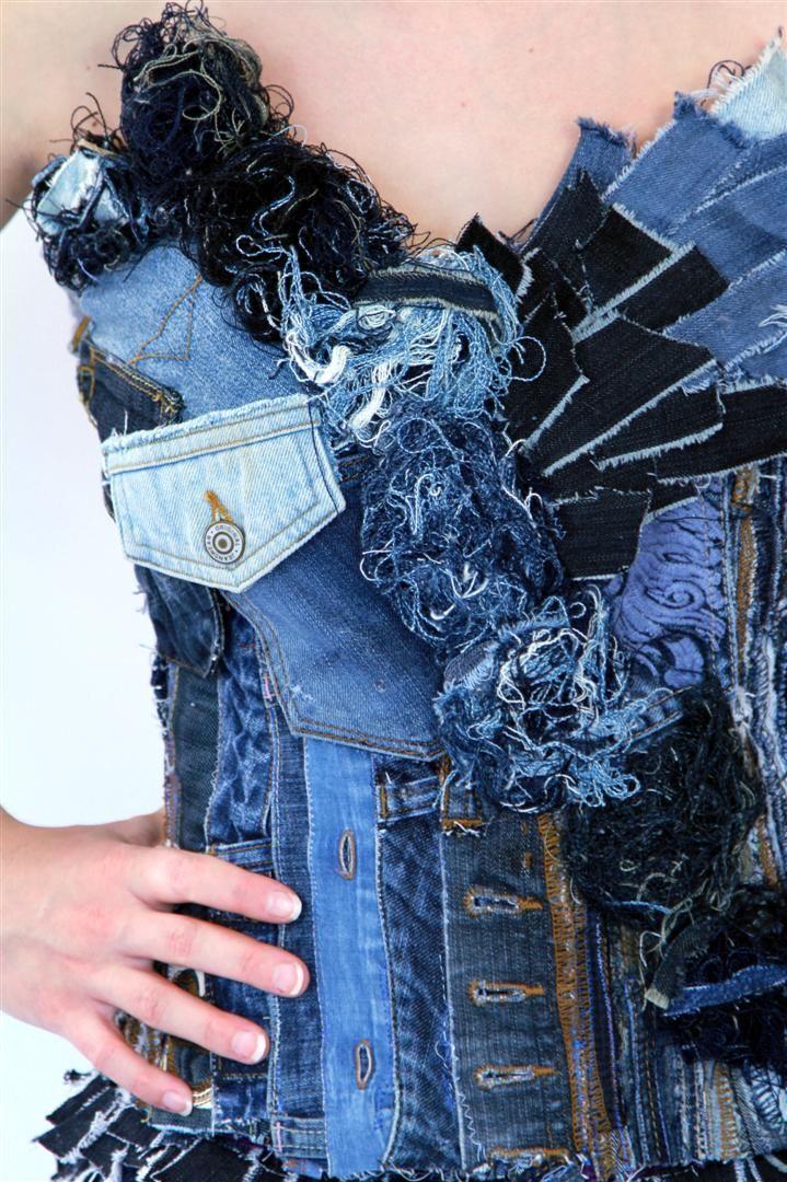 recycler ses jeans en un corset id recup 39. Black Bedroom Furniture Sets. Home Design Ideas