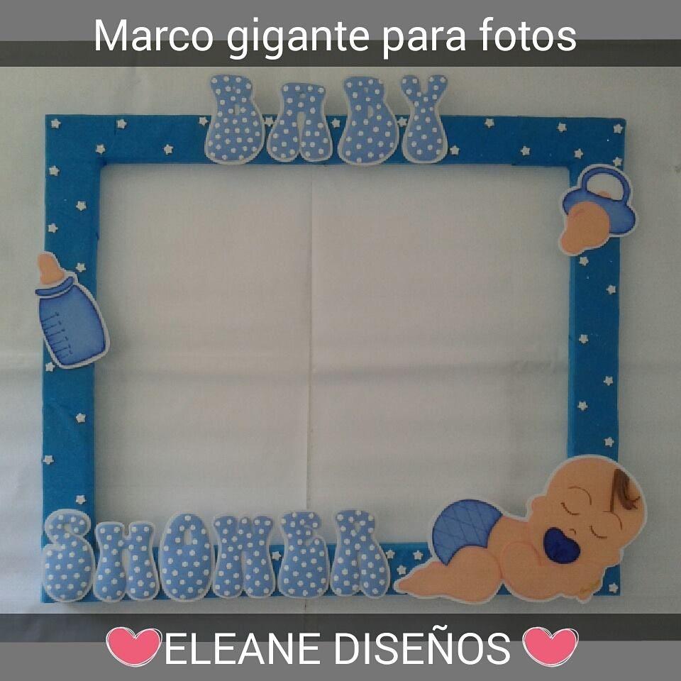 MARCO GIGANTE PARA FOTOS DE BABY SHOWER | cuadros | Pinterest