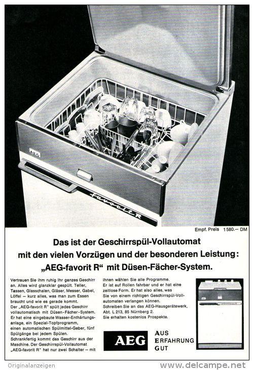 OriginalWerbung/ Anzeige 1962 AEG GESCHIRRSPÜLER ca