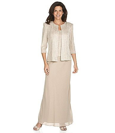 Alex Evenings Twin Set and Skirt Mother of the Bride dress ...