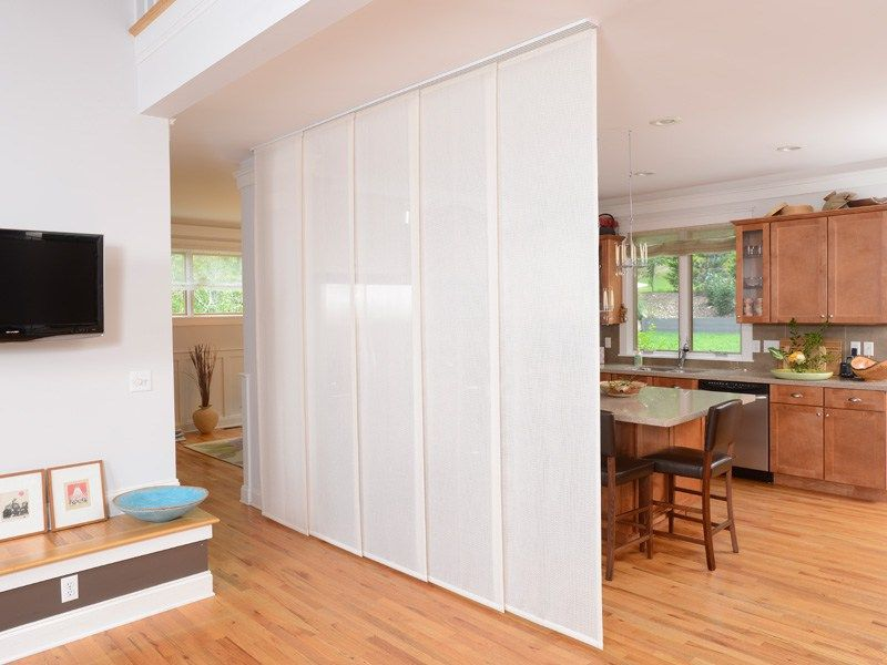 Panel Glides Are Also Great As A Room Divider Fabric Room