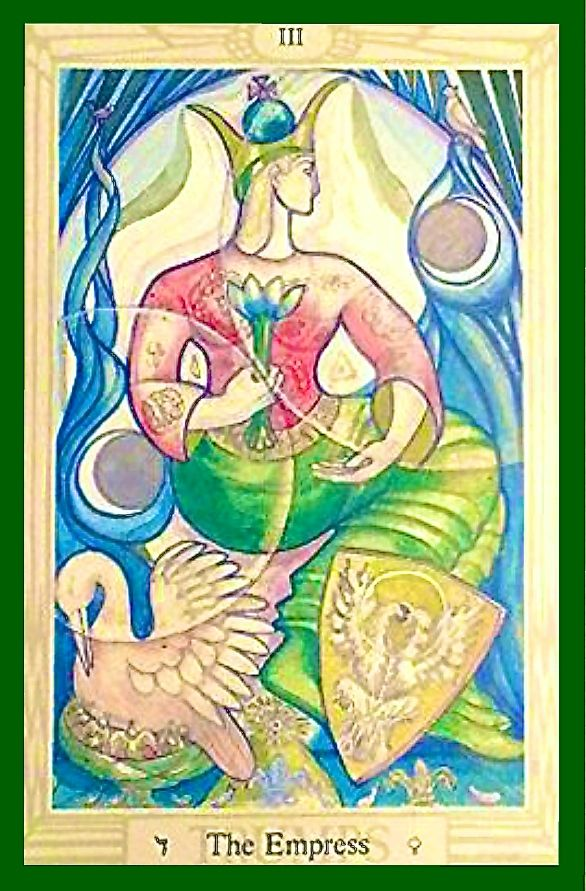 9b0d67ba406ca5 III The Empress - La Emperatriz Aleister Crowley Tarot, The Empress, Tarot  Cards,