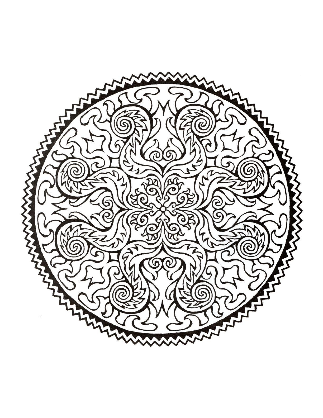 Mystical Mandala Coloring Book | Mandala coloring, Mandala ...
