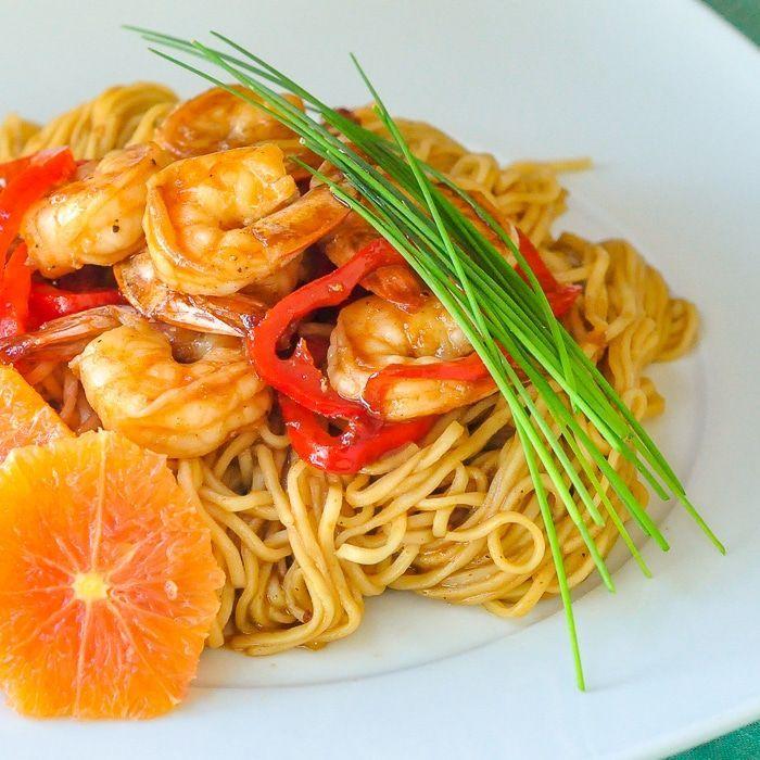 15 Minute Orange Hoisin Shrimp And Noodles 15 Minute Orange Hoisin Shrimp and Noodles Orange Things orange order