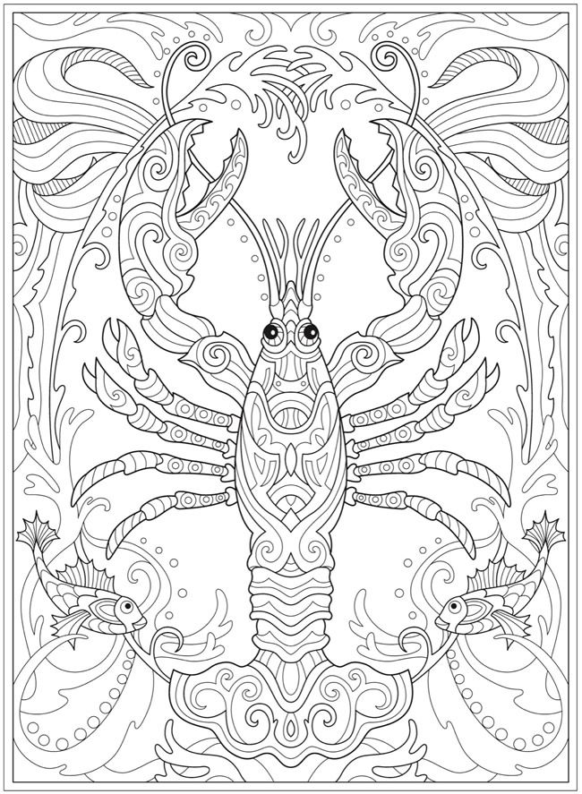 Welcome to Dover Publications - CH Fanciful Sea Life | Coloring ...