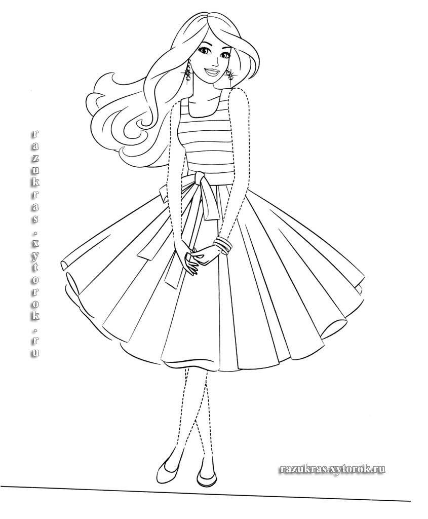 Раскраски Умная и красивая Барби 12 | Раскраски ...