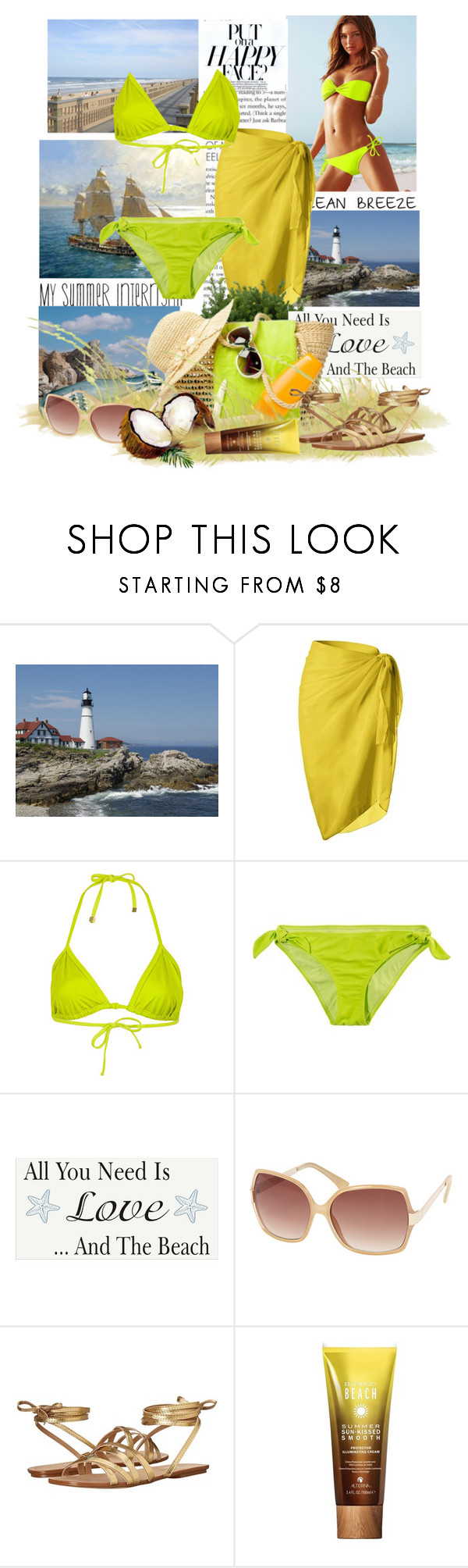 """""""Beach Day"""" by sophia561 ❤ liked on Polyvore featuring Topshop, American Eagle Outfitters, Dorothy Perkins, Splendid and Alterna"""