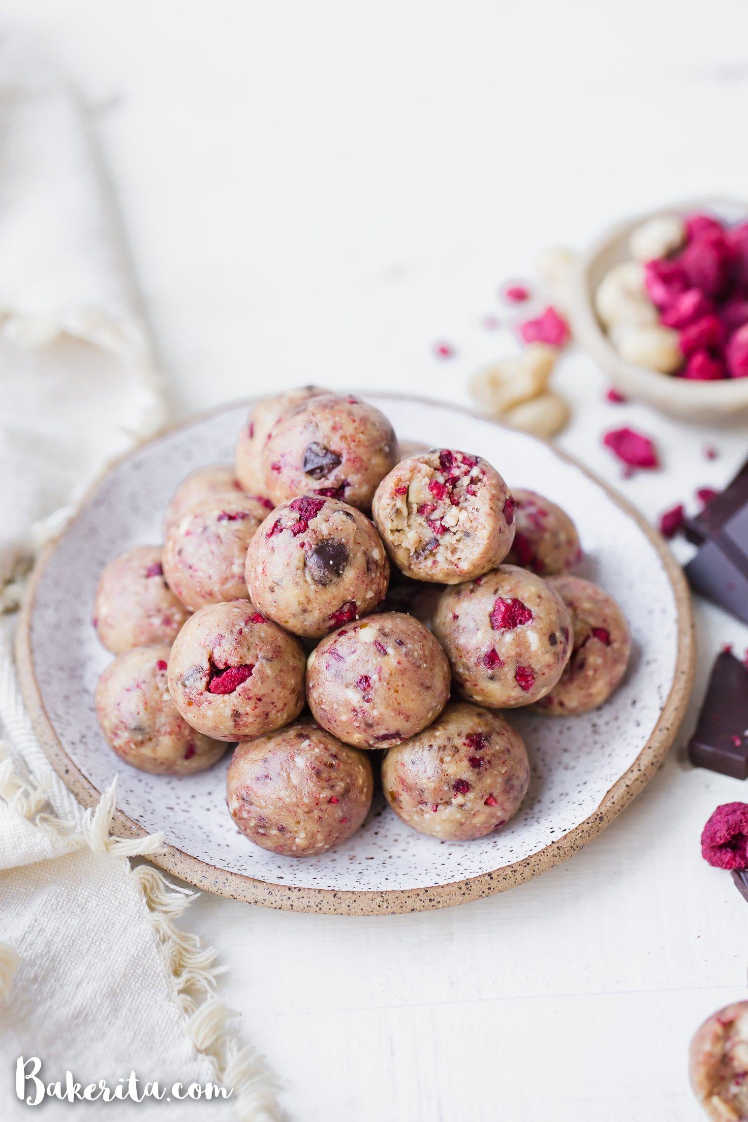 Raspberry Dark Chocolate Energy Bites Recipe Food Energy