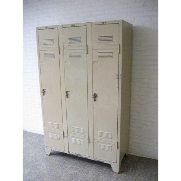Industriele Lockerkast Kopen.Industriele Locker Kledingkast Kast Met 3 Deuren Staal