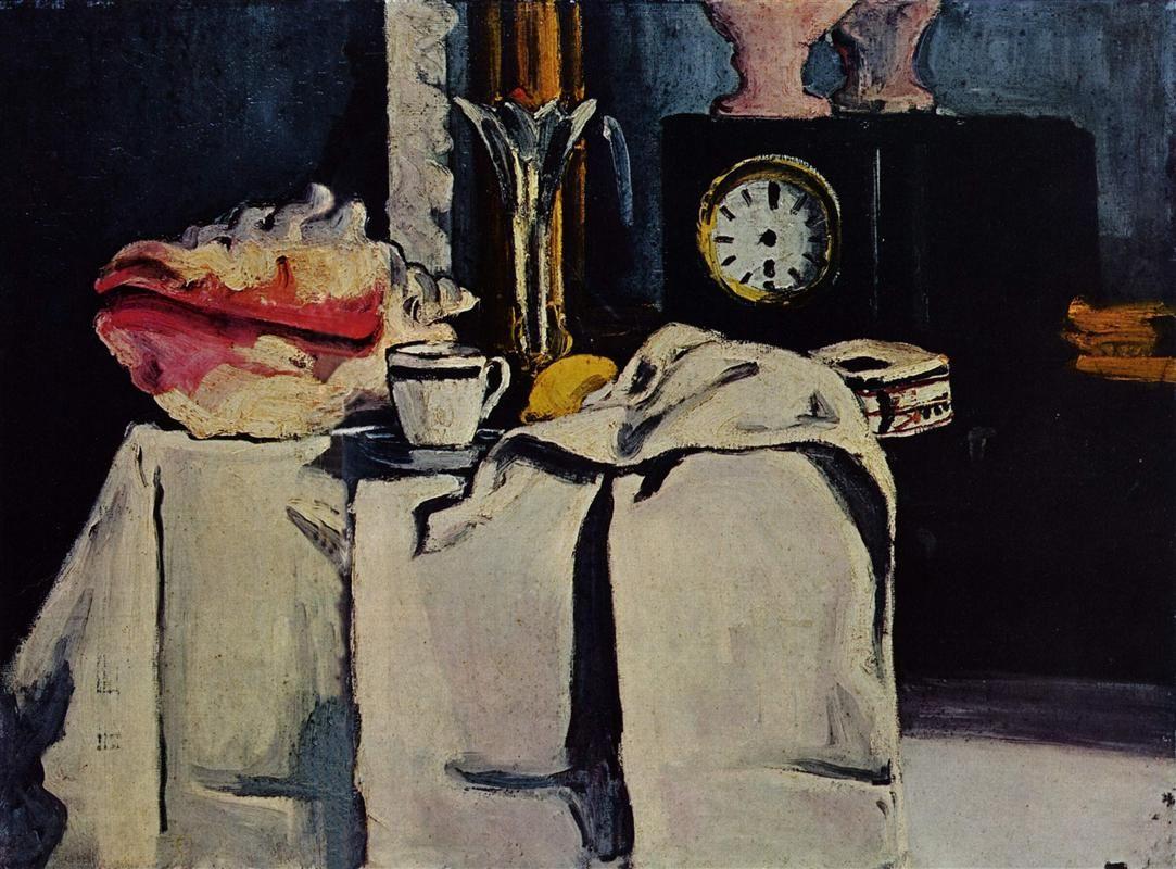 Cezanne, The Black Marble Clock, 1870
