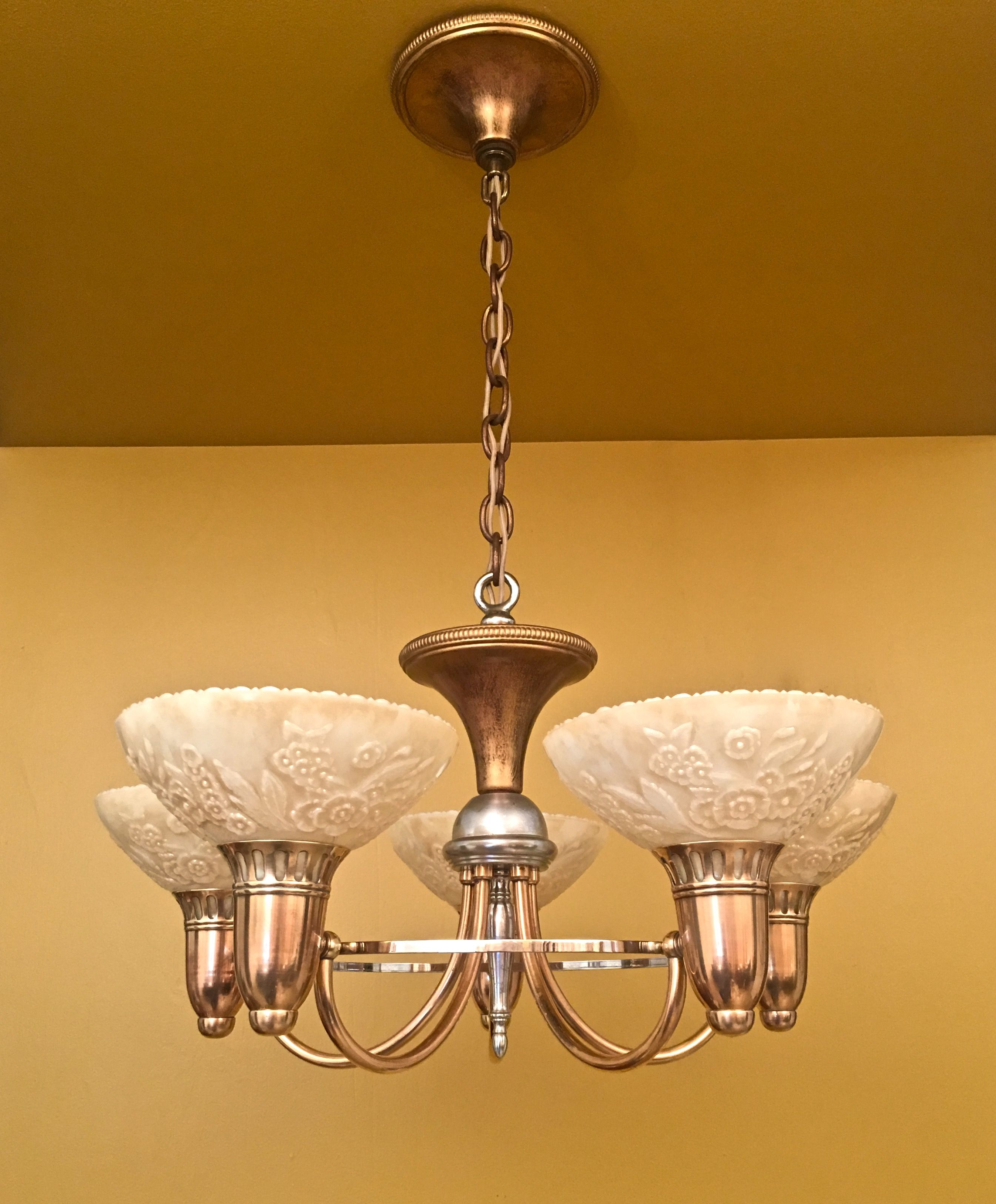 1930s Chandelier By Gill Glass Antique Lighting Vintage Lighting Art Deco Home