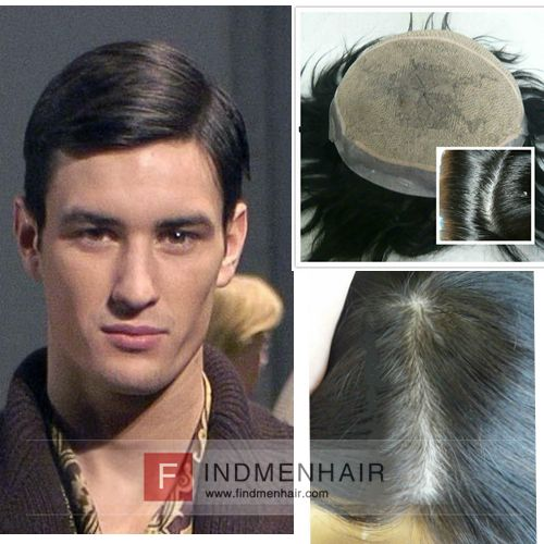 Good Left Part Most Natural Looking Silk Injected Mens Hair Wigs And Toupees ,The Top Fashion Of 2016 Mens Hairstyles