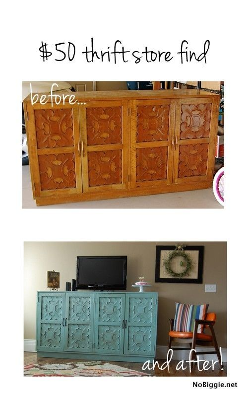 Thrift store find - before and after - NoBiggie.net by robyn
