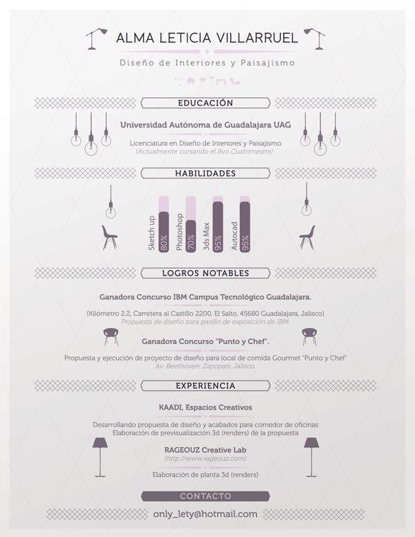 Interior Designer Resume by Julio López, via Behance resume