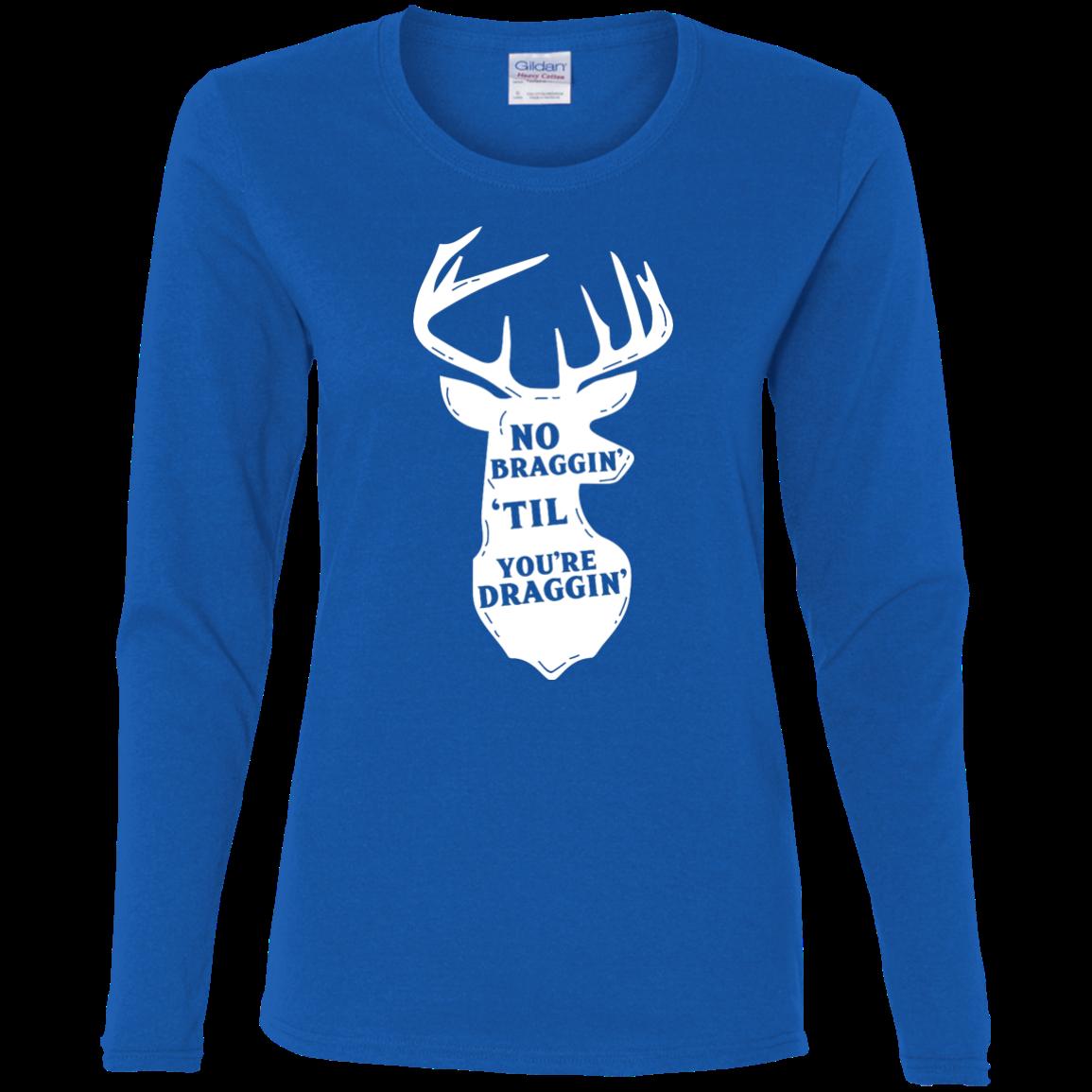 Gildan Ladies' Cotton LS TShirt Long sleeve tshirt, T shirt