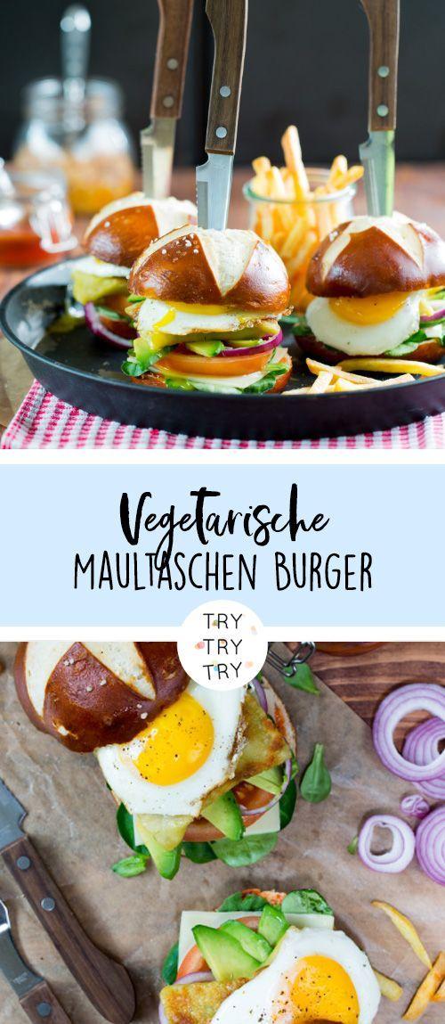 Vegetarische Maultaschen Burger #vegetarischerezepteschnell