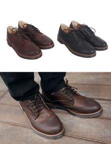 Today's Hot Pick :[シューズ・靴メンズ] クラシックブラウン配色ウィングチップシューズ http://fashionstylep.com/SFSELFAA0010611/top3666jp1/out