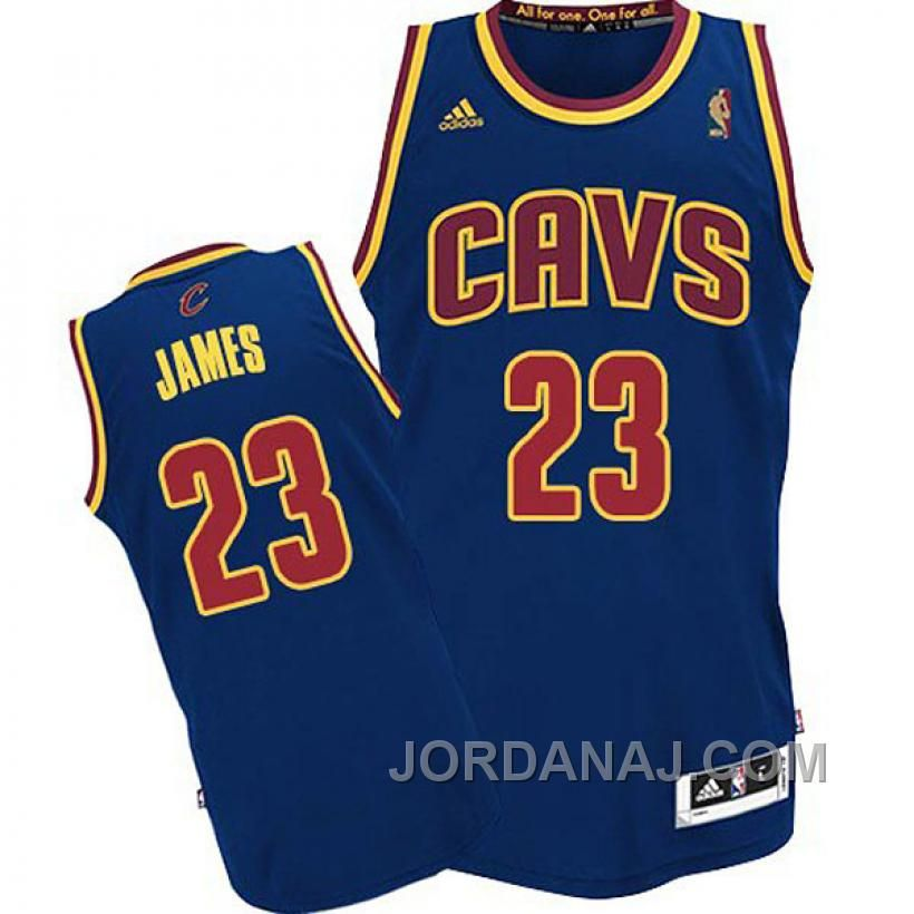 Cleveland Cavaliers #23 LeBron James Revolution 30 Swingman Navy Blue Jersey