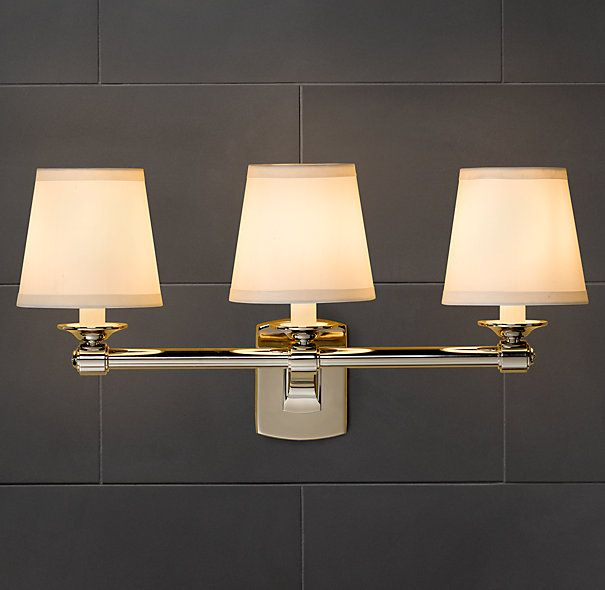 Campaign Triple Sconce Bathroom Lights