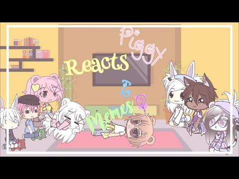Piggy Reacts To Piggy Memes 2 Gacha Life Youtube Piggy Memes Roblox