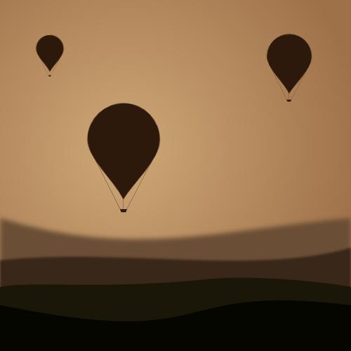 Balloons at dawn by John LeMasney via 365sketches.org