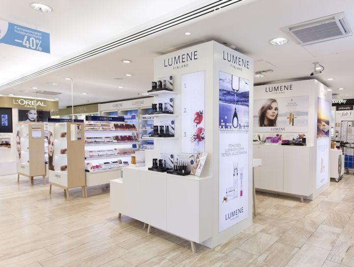Lumene retail furniture concept by pentagon design for Retail interior design firms