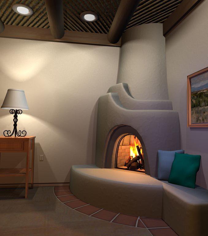 Dream Home Has Kiva Fp In Den Fireplace Design Home Southwest Living