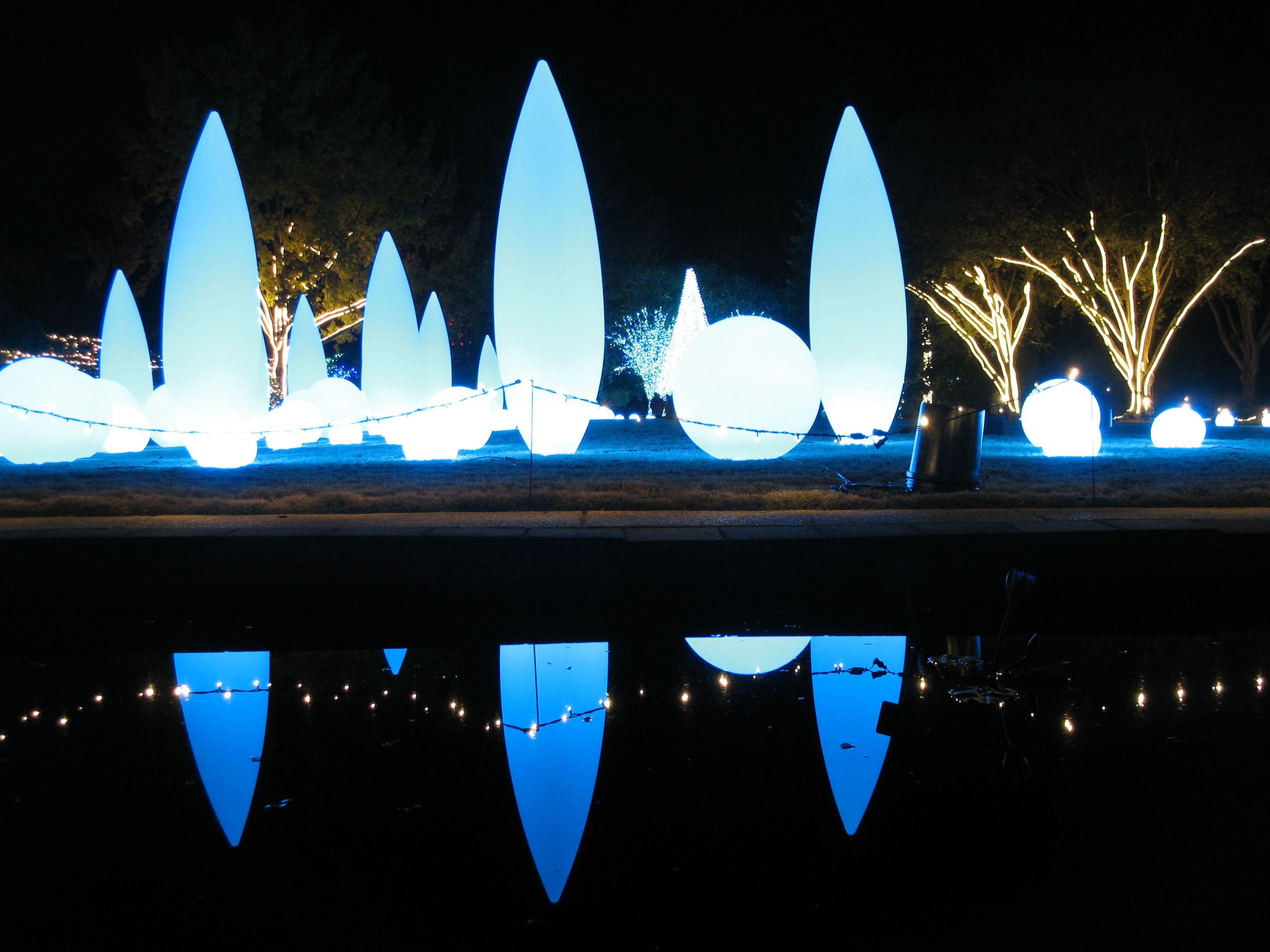 Atlanta Botanical Gardens light show (With images