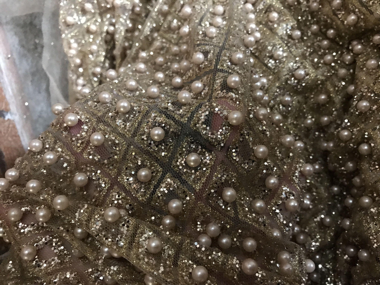 Livraison Gratuite Brillant Dentelle Tissu Tissu Dentelle Etsy Beaded Lace Fabric Unique Wedding Dress Lace Bridal Lace
