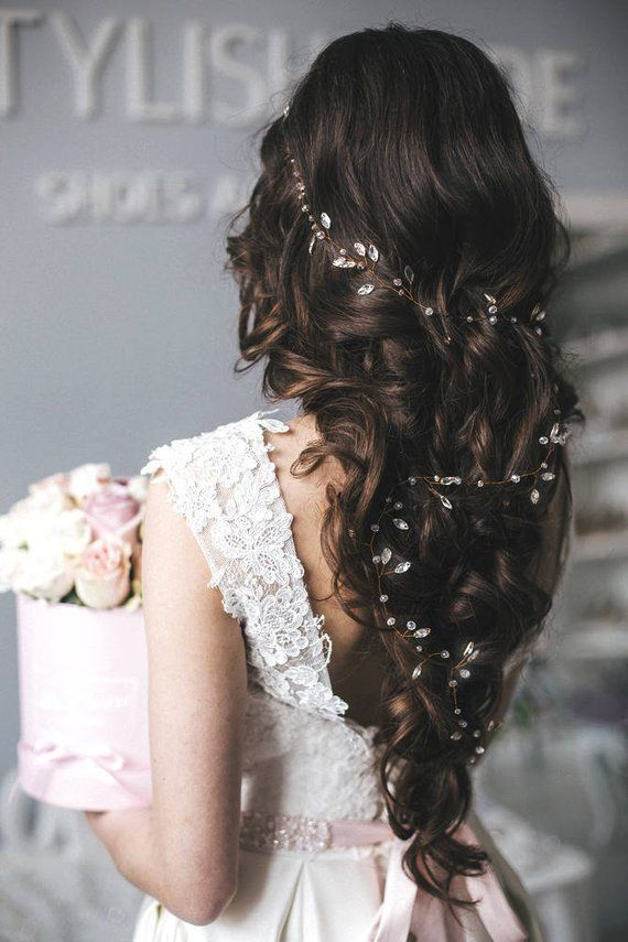 Photo of Bridal Boho 2020 Extra Long Crystal Hair Vine