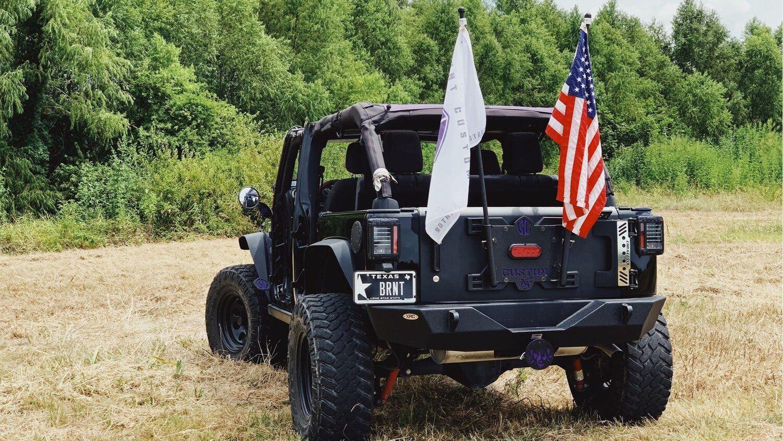 Custom Flag Poles Burnt Customs Custom Offroad Parts Custom Flags Flag Pole Flag