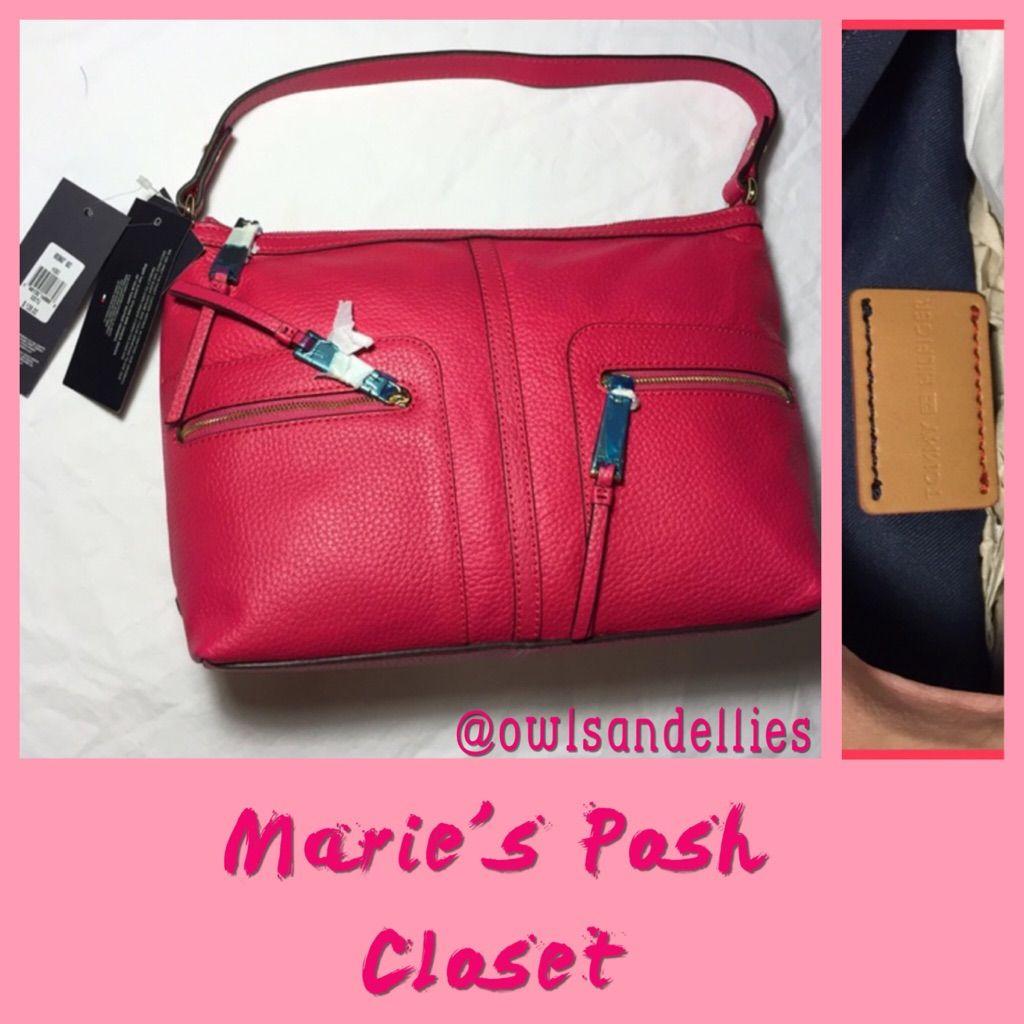 Bright Pink Leather Handbag