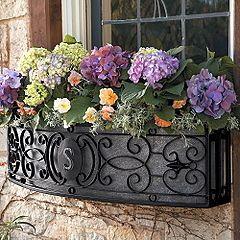 Custom Wrought Iron Window Planters Boxes Balcony Covers Rails