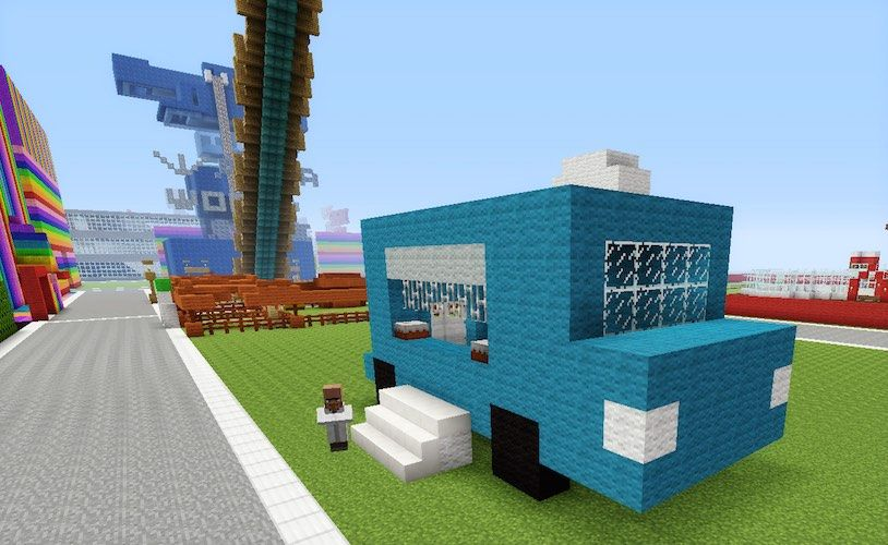 Minecraft Food Truck Cute And Easy To Recreate With Images
