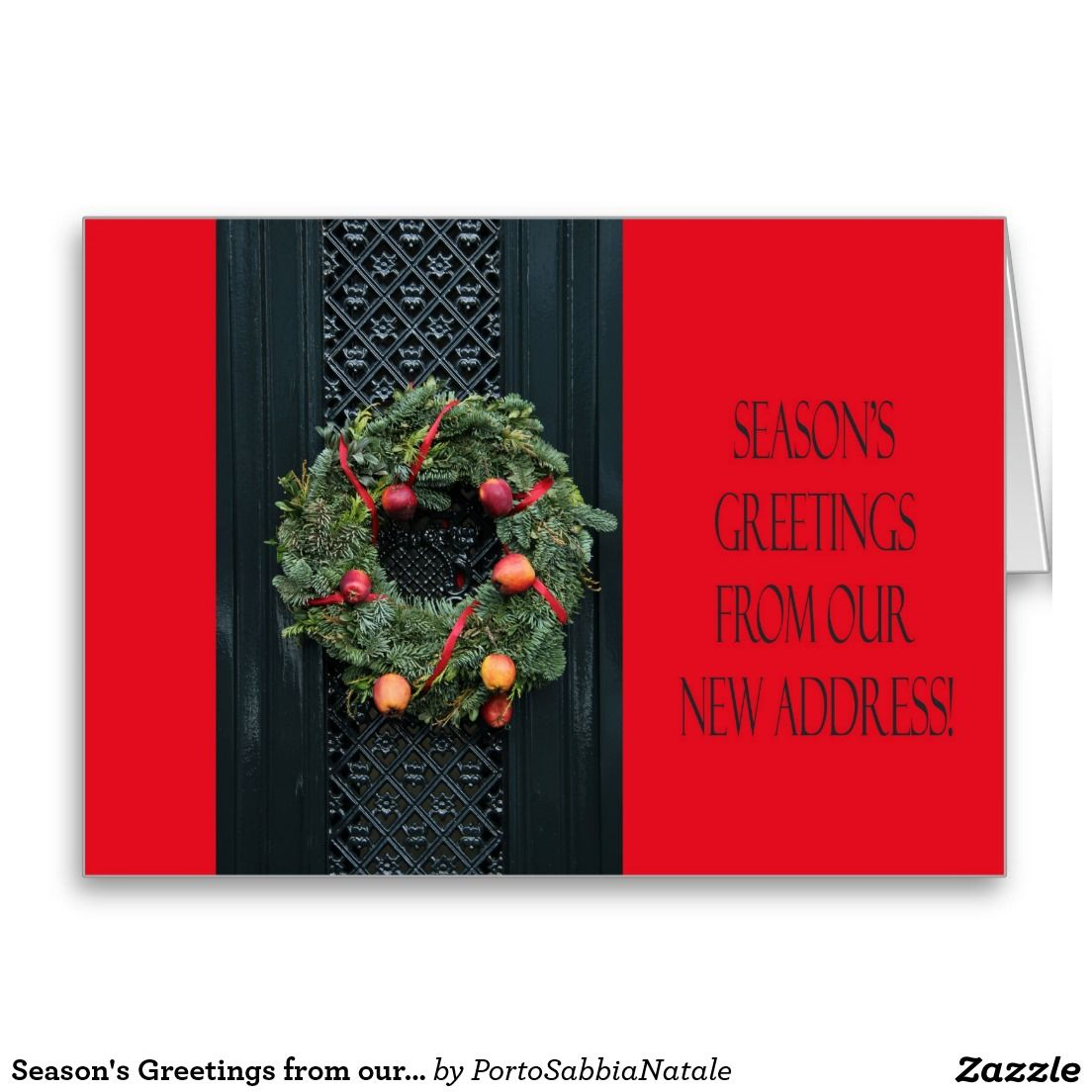 Season\'s Greetings from our New Home Holiday Card | New Address ...