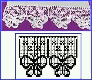 Vlinder Valletje Haken Pinterest Crochet Filet Crochet En
