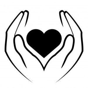 Teacher Hands Holding Heart Hand Holding Something Heart Drawing