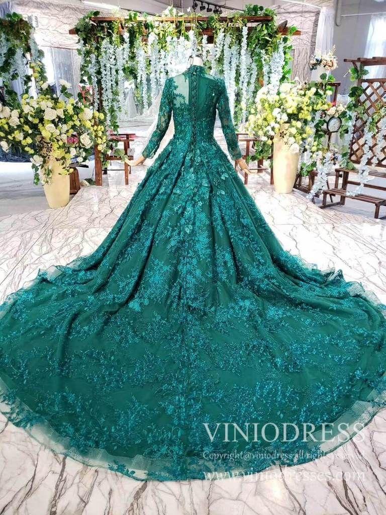 Long Sleeve Vintage Emerald Green Prom Dresses Luxury Debut Dress Fd1876 In 2021 Emerald Green Prom Dress Green Prom Dress Burgundy Prom Dress [ 1024 x 768 Pixel ]
