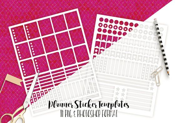 Download Planner Sticker Templates Commercial Use Blank Diy Sticker Etsy Sticker Template Planner Stickers Planner Template