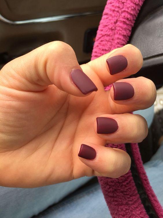 55 Fall Matte Nail Colors To Try This Year Koees Blog Square Acrylic Nails Short Acrylic Nails Cute Nails