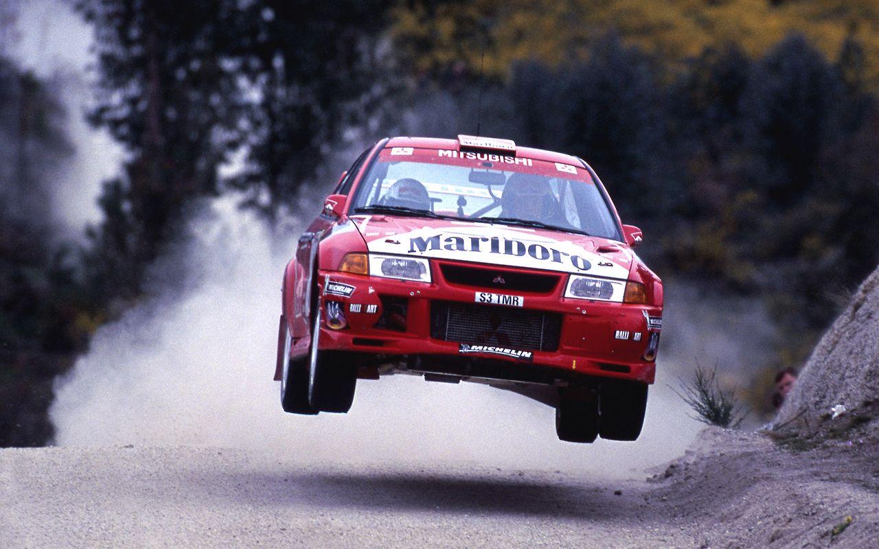 Mitsubishi Evo rally car Group A Rally racing, Rally
